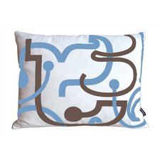 Letters Cotton Lumbar Pillow