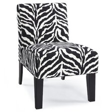 Deco Zebra Slipper Chair in Black