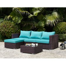 Pacifica 5 Piece Lounge Seating Group with Cushions