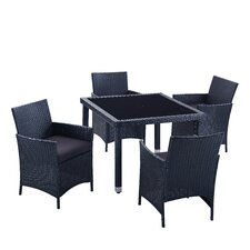 Aptos 5 Piece Dining Set with Cushions