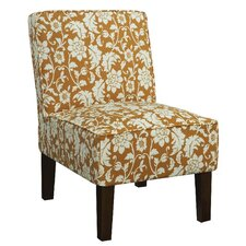 Alexandra Side Chair in Orange Floral (Set of 2)