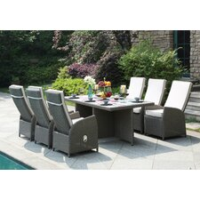 Clearwater 7 Piece Dining Set with Cushions