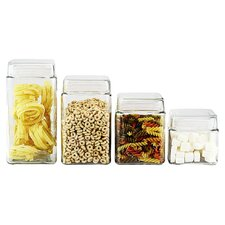 4-Piece Storage Jar Set