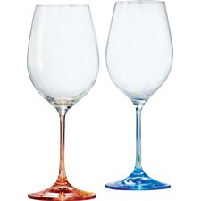 6 Piece Rainbow 0.35L Wine Glass Set