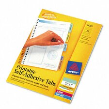 Printable Repositionable Plastic Tabs, 80/Pack