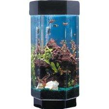Aqua 15 Gallon Scape Hexagon Aquarium Kit