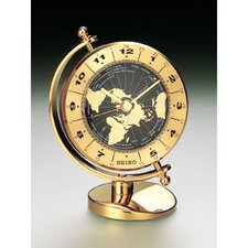 Brass Desk and Table World Time Bezel Clock