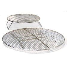 2 Piece All Grills Circular Roasting and Baking Rack Set