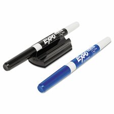 Magnetic Clip Eraser with Dry-Erase Markers (3 Pack)