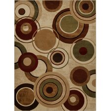 Tribeca Geometric Brown & Tan Area Rug