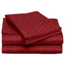 Willow Vine 80 GSM Microfiber Sheet Set