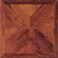 "Wood Cross 12"" x 12"" Luxury Vinyl Tile in Cherry"