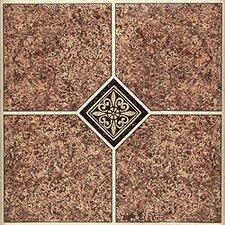 "12"" x 12"" Luxury Vinyl Tile in Marble Traditional"