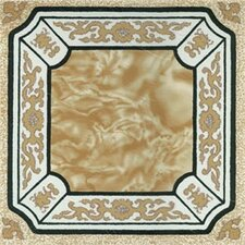 "12"" x 12"" Luxury Vinyl Tile in Creme Fancy Adhesive"