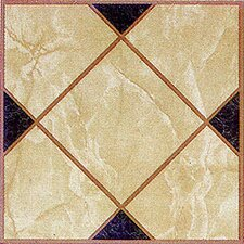 "12"" x 12"" Luxury Vinyl Tile in Light Brown Squares Cross"