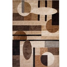 Tribeca Patterned Brown/Tan Area Rug