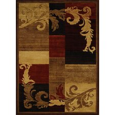Catalina Light Brown/Red Area Rug