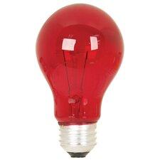 25W Red 120-Volt Incandescent Light Bulb