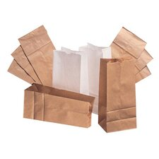 12 Paper Bag in White with 500 Per Bundle (Set of 2)