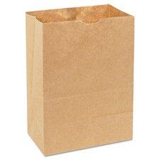 Natural Grocery Sack Squat Paper Bag in Brown