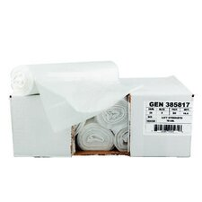 Hi-Density Can Liners, 24 x 23, 6 mic, Clear, 20 Rolls of 50 Bags, 1000/Carton