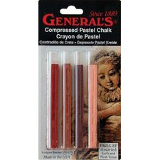 Compressd Earth Tone Pastel Chalk Sticks (Set of 4)