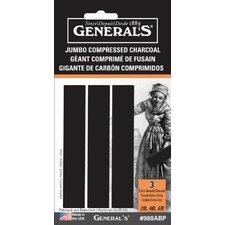 Jumbo Charcoal Sticks (Set of 3)