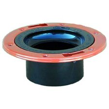 ABS-DWV Closet Flange with Adjustable Metal Ring
