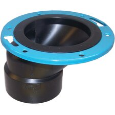 """4"""" x 3"""" ABS Offset Closet Flange with Metal Ring"""