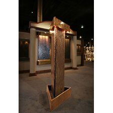 Artesian Springs Stone, Stainless Steel, and Copper Fountain