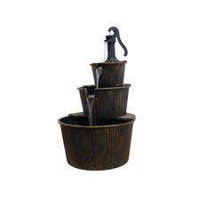 Plastic 3 Tier Pump and Barrels Fountain