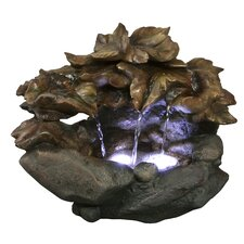 Cascading Leaf Tabletop Fountain