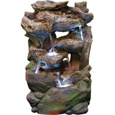 Fiberglass Rainforest Waterfall Fountain with LED Light