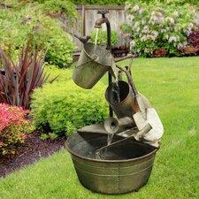 Metal Tiered Garden Tools Fountain