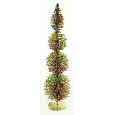 """18"""" Green Freshly Cut Christmas Tree with 4 Circular Shaped Tiers"""