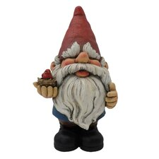 Gnome with Bird Statue