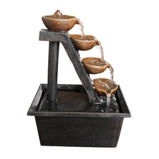 Polyresin 4 Tier Tabletop Fountain