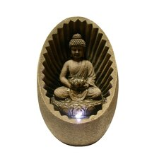 Buddha Fiberglass Tabletop Fountain with LED Light