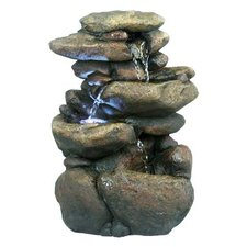 """11"""" 3 Tier Rock Fountain with LED Lights"""