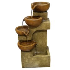 Polyresin Tiered Pots Fountain