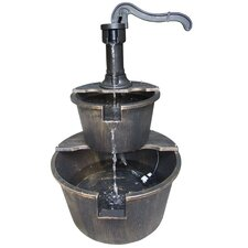 Two Tier Pump and Barrel Fountain