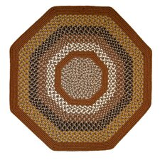 Green Mountain Maple Syrup Multi Octagon Brown Area Rug
