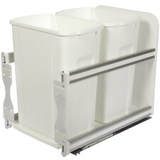 8.75-Gal Plastic In-Cabinet Double Soft Close Pull-Out Trash Can