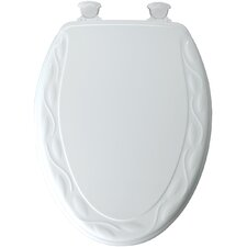 Designer Sculpted Ivy Molded Wood Elongatd Toilet Seat