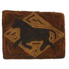 Primitive Folk Art Horse Handcrafted Lumbar Pillow