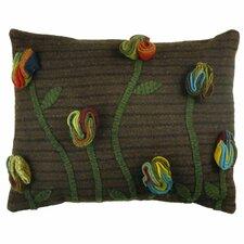 Primitive Poppy Handcrafted Lumbar Pillow