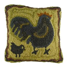 Primitive Mother Hen Handcrafted Throw Pillow