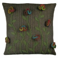 Primitive Poppy Handcrafted Throw Pillow