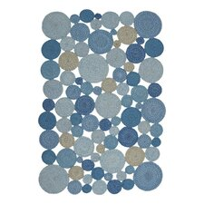 Medallion Indoor/Outdoor Braided Blue Area Rug