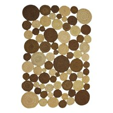 Medallion Indoor/Outdoor Braided Cocoa Area Rug